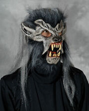 Gray Werewolf Wolf Wolfman Night crawler Latex Halloween Mask Moving Mouth Mask