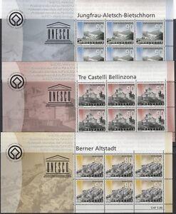 SCHWEIZ-2003-UNESCO-Welterbe-1846-50-Kleinbogen-18254
