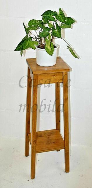 Massivholz Blumentisch 80cm kirschbaumfarben Blumenhocker Telefon-tisch Beistell