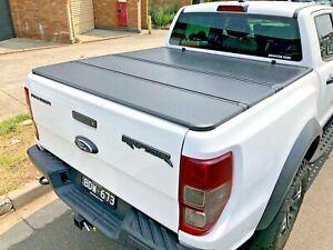 Tri Fold Hard Lid Tonneau Cover For Ford Ranger Raptor 2018 2020 Ebay
