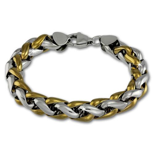 Amello Acier Inoxydable Bracelet tressés plaqué or messieurs en acier inoxydable bijoux ESAC 01y2