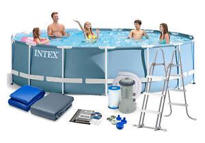 Intex-26720GN-Frame-Pool-Komplettset-mit-Filter-Leiter-und-Abdeckung-427-x-107