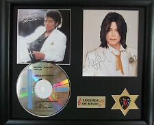 Michael Jackson Thriller Genuine CD, Autograph & Plectrum Presentation