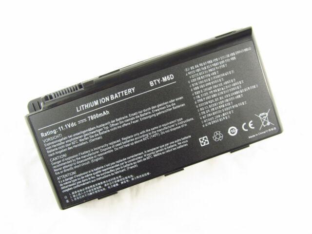 7800mAh Battery MSI BTY-M6D GT670 GT680 GT70 GX780 GX780 GT760 GT60 GT663 GX680
