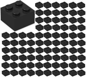 ID 3003 BULK Parts City Building ☀️100x NEW LEGO 2x2 BLACK Bricks
