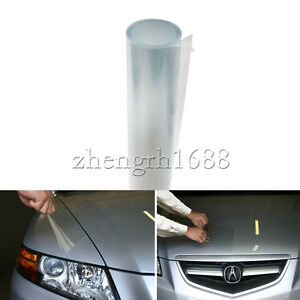 12 x 48 clear bra headlight bumper hood paint uv for Film protection uv fenetre