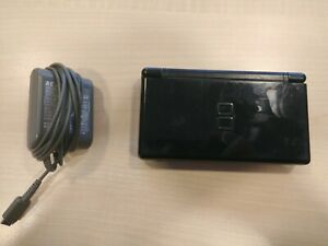 Nintendo DS Lite Cobalt/Black Console Needs Repairs for bottom screen and L/R