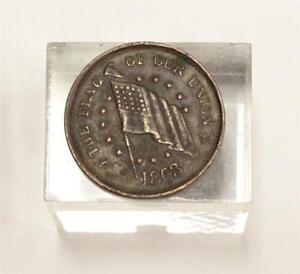 1863-Uttica-NY-Sherwood-amp-Hopson-China-Emporium-Flag-of-our-Union-token-VF30