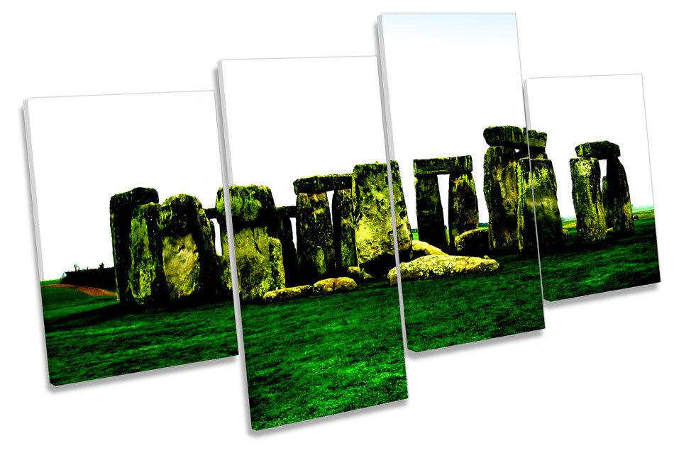 Stonehenge pared Landmark Multi tela pared Stonehenge arte enmarcado Panel 4d9a21