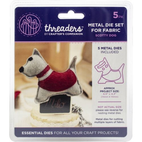 Crafter/'s Companion enfile Métal Tissu Nesting Dies-Scotty Chien Project