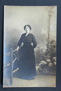 Postcard-Antique-CPA-Animated-Photo-Portrait-Wall-Hanging