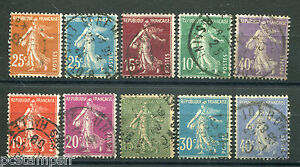 FRANCE-LOT-timbres-types-SEMEUSE-obliteres-TB