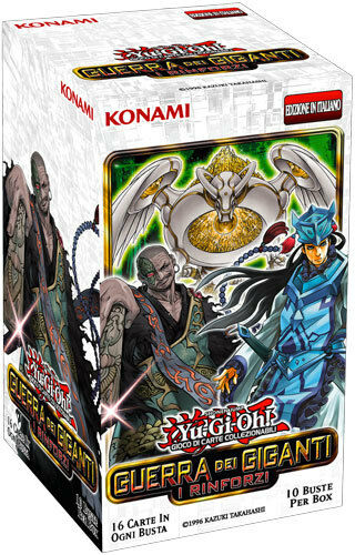 War of the Giants, Braces 10 Booster Box 10 Pouches Yu-Gi-Oh  NEW, Italian