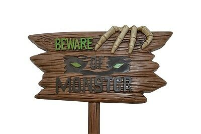 Beware of Monster Evil Lawn Sign