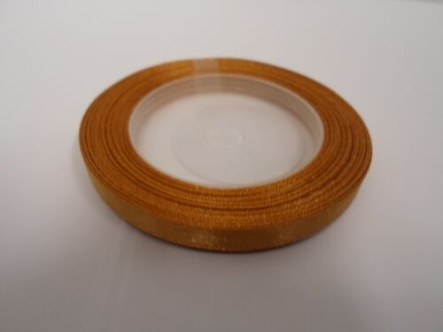 1 rouleau 6mm 1//4 ruban de satin 13 mètres uk mariage noël craft uk tva reg