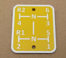 Shift Pattern Plate For Oliver 66 77 88 Super