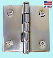 2 Cabinet Hinge Chrome Brass Coin Finials | Renovator's Supply
