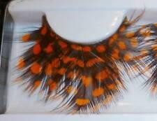 False Eyelashes Orange Black Feather Fake Lashes Costume Party Halloween Spots