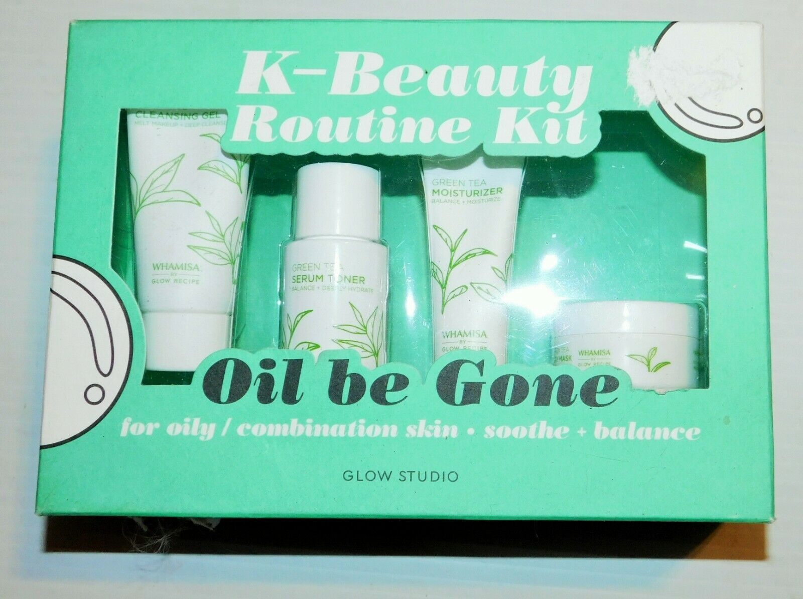 Glow Studio Oil Be Gone K-Beauty Routine Kit - 5.2oz 3