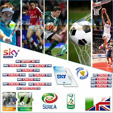 SKY ITALIA HD Decoder + SkyTV + CALCIO HD Viewing CARD (scadenza 14/10/2017)