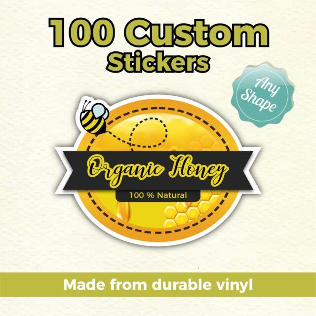 2x Sticker Die Cut Decal vinyl got organic