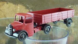 Classic Vintage Dinky 521 BEDFORD Autoarticolato in Nero/Cremisi RUOTE