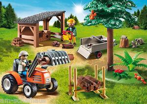 Playmobil-leñador con tractor, bosque, en su embalaje original, nuevo, 6814  </span>
