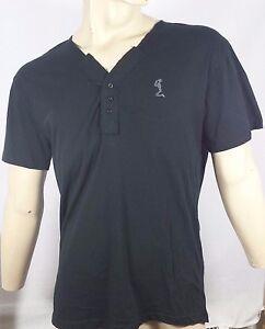 RELIGION-Y-Placket-T-shirt-in-Black