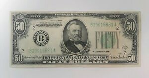 1934-D-50-FIFTY-DOLLARS-STAR-FEDERAL-RESERVE-NOTE-CLEVELAND-OH-VERY-NICE
