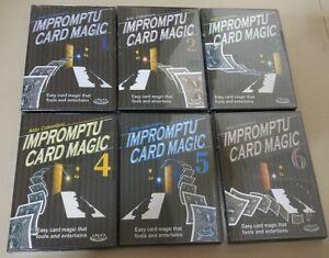 6 DVD - ALDO COLOMBINI IMPROMPTU CARD MAGIC Card Street Mind ...