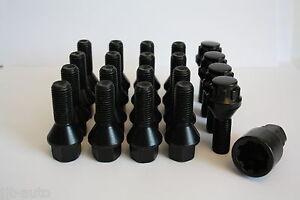 16-X-M12-X-1-5-30MM-BLACK-BOLTS-amp-LOCKING-BOLTS-FIT-SAAB-9-3-9-5-9-3X-9-5X-9-7X
