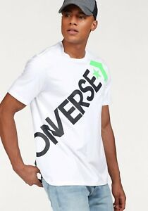 0461721b12f09e Converse Cross Body Tee New White Black Light Green T-Shirt 10006741 ...