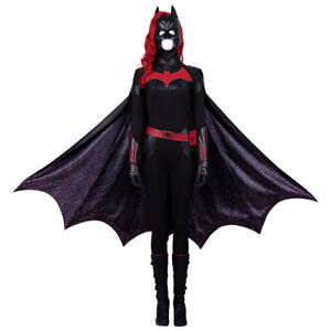 Halloween Outfits 2019.Details About 2019 Batgirl Cosplay Costume Halloween Outfits Full Set With Mask Wig Lot