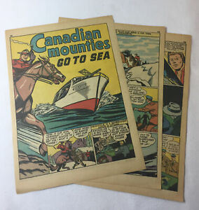 1942-five-page-cartoon-story-CANADIAN-MOUNTIES-GO-TO-SEA
