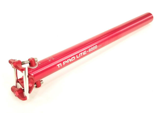 KCNC Ti Pro Lite 400mm 31.6 SEAT POST IN RED
