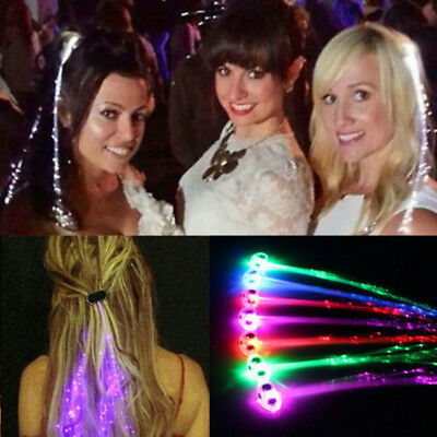1PC LED Clip Braid Colorful Glowing Flash LED Hair Braid Party Ligth Up Props