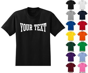 Custom-Personalized-Adult-Men-039-s-T-shirt-Choose-Text-Front-Only-MMA-TEXT