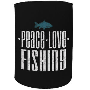 Dw Men And Fish Alike Fishing Funny Novelty Birthday Stubby Holder