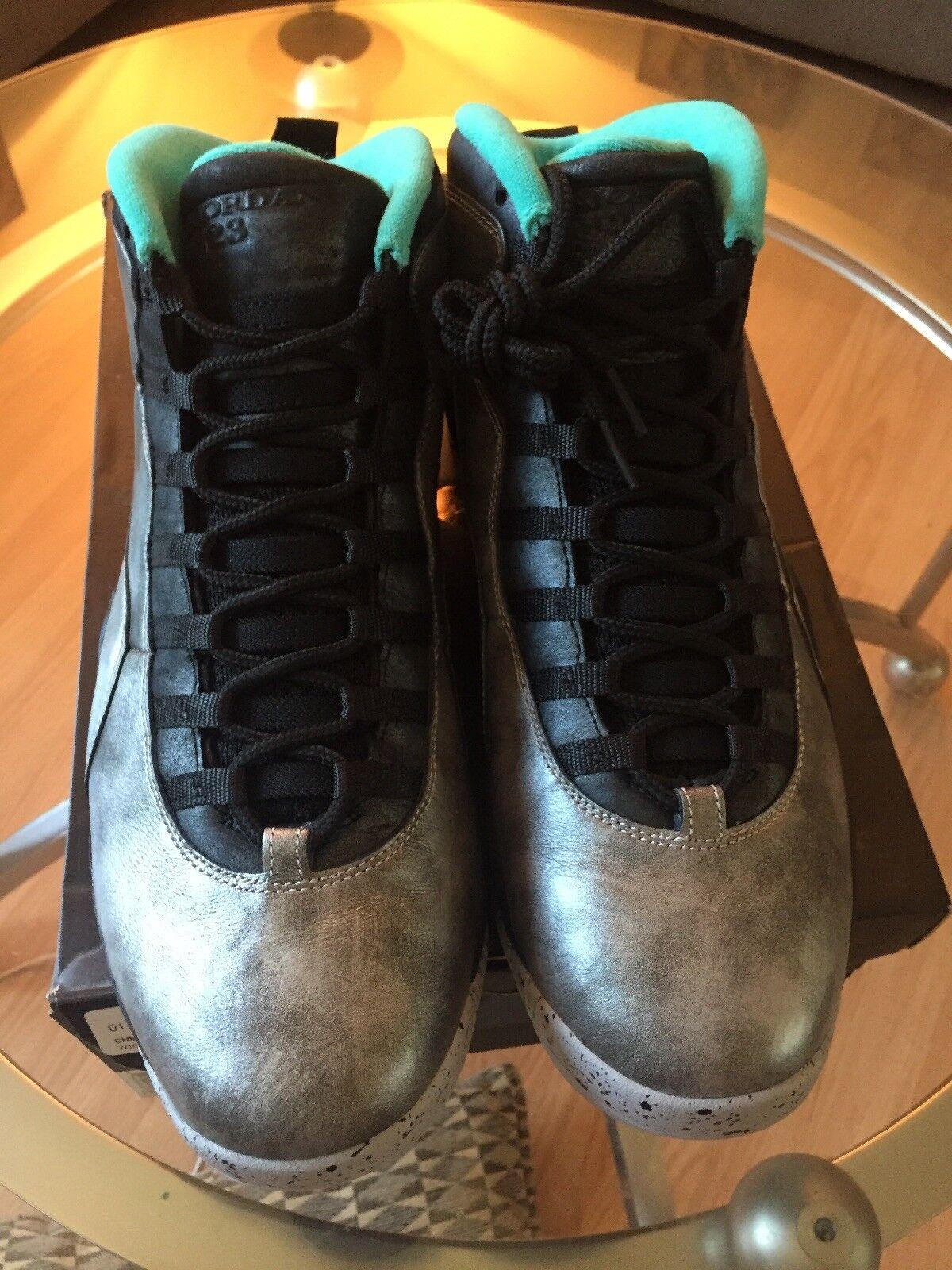 outlet store edf06 37e56 ... Nike Air Air Air Jordan 10 Retro Liberty Size 12 NYC ASG MSG Silver  Gold Star ...