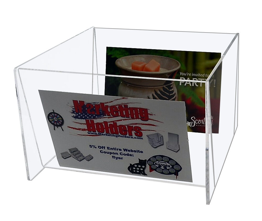 Bin for 5 W x 7 H Photos Holder Display Clear Acrylic