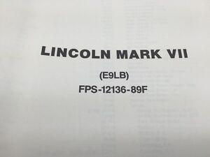 1989 lincoln mark vii wiring diagrams and vacuum diagrams ebay rh ebay co uk