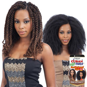 freetress equal cuban twist braid for double strand style 12 ebay. Black Bedroom Furniture Sets. Home Design Ideas