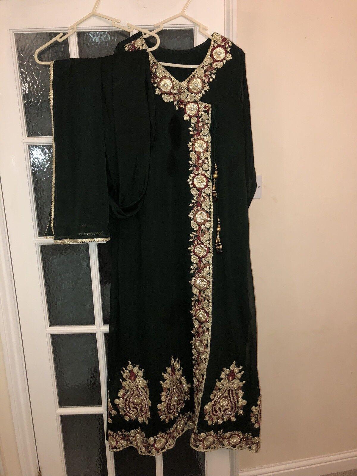 Indian pakistani Gota designer suit  Size L XL
