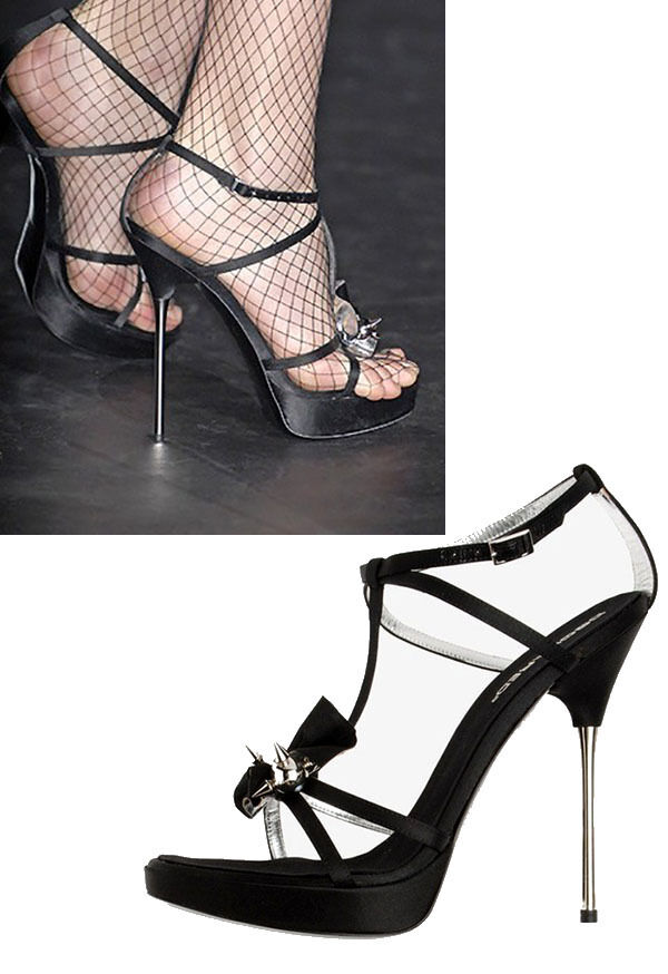 1,000 NEW DSQUARED2 SPIKED STILETTO PLATFORM SHOES 39.5 - 9.5
