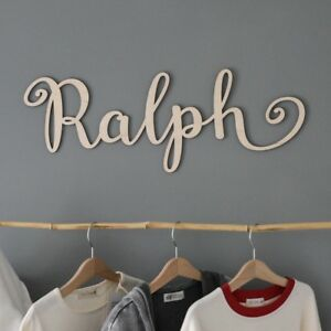 Image Is Loading Large Wooden Name Sign Wall Hanging