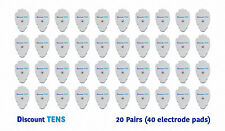 TENS Large Snap On Electrode Pads, 20 Pairs (40 Pads)