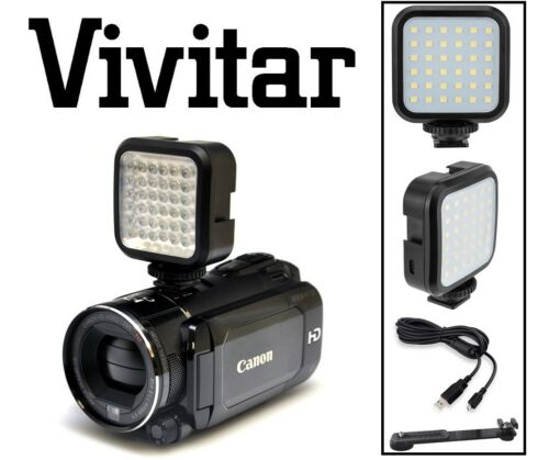 Luz de vídeo LED con Kit de carga para Sony HDR-PJ810 HDR-PJ275 HDR-CX240