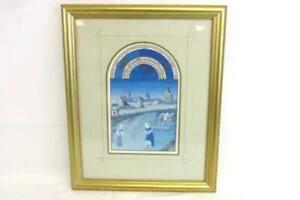 Vintage-Framed-Matted-The-Manuscript-Collection-June-1410-1485-Quintessa-Art