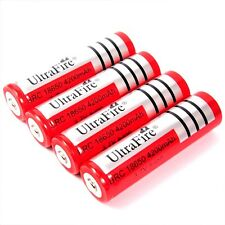 4 x Ultra Fire 4200 mAh Lithium Ionen Akku 3,7 V  von BRC Typ 18650 battery pack