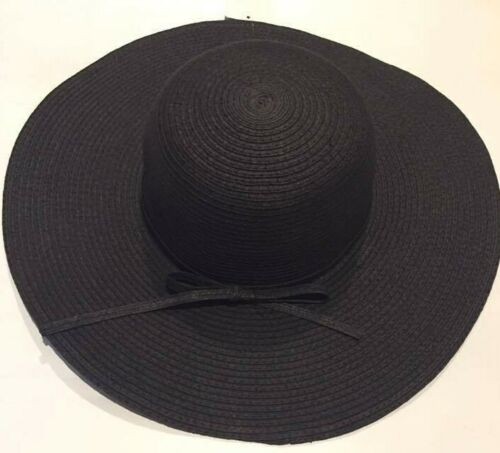 New Women/'s Crushable Packable Midsize Brim Straw Floppy Hat SPF50 Beach Cap